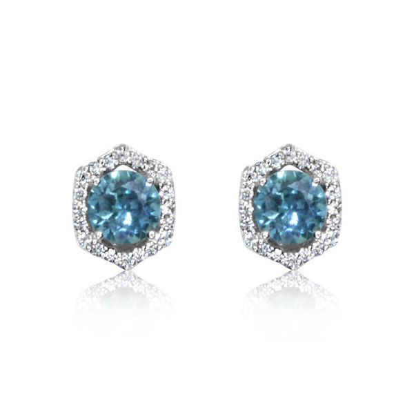 Montana Sapphire Earrings Simones Jewelry, LLC Shrewsbury, NJ