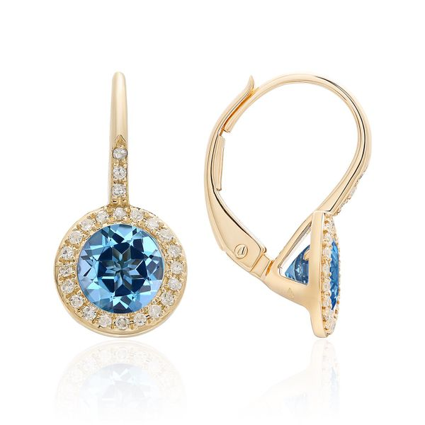 Diamond & Blue Topaz Earrings Simones Jewelry, LLC Shrewsbury, NJ