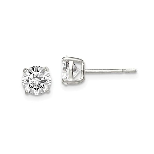 Cubic Zirconia Stud Earrings Simone's Jewelry, LLC ,