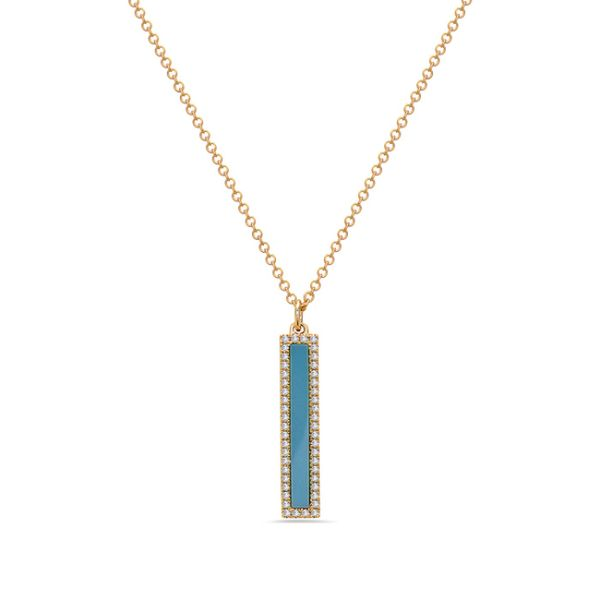 Turquoise & Diamond Pendant Simones Jewelry, LLC Shrewsbury, NJ
