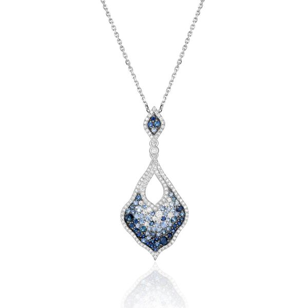 Sapphire & Diamond Necklace Simones Jewelry, LLC Shrewsbury, NJ