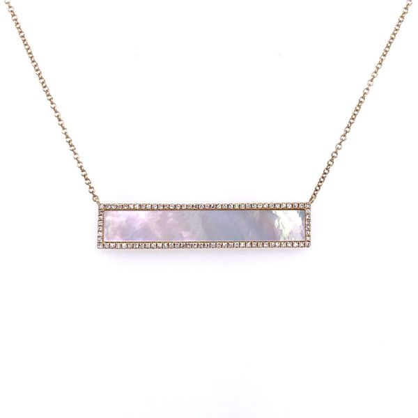 Mother of Pearl Diamond Necklace Simones Jewelry, LLC Shrewsbury, NJ