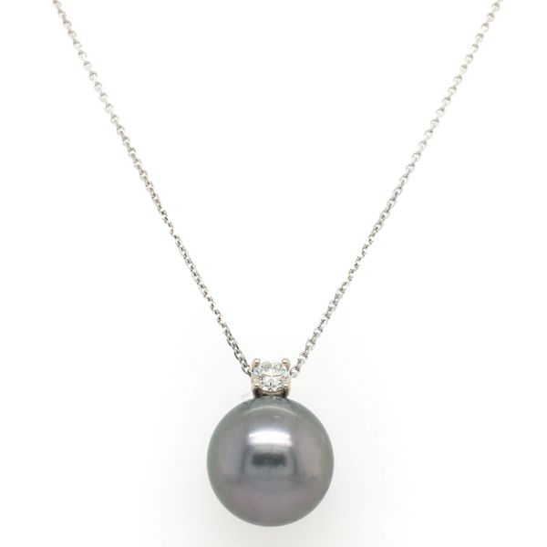 Tahitian Pearl & Diamond Pendant Simones Jewelry, LLC Shrewsbury, NJ