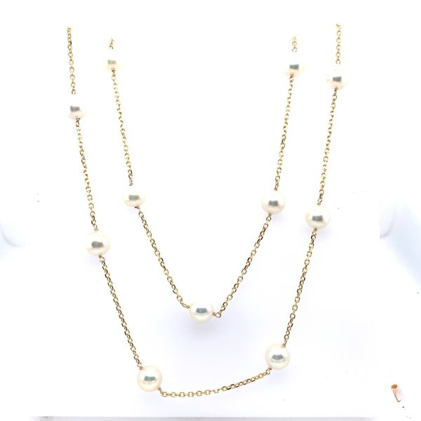 Tin Cup Pearl Necklace Image 2 Simone's Jewelry, LLC ,