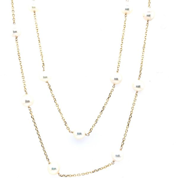 Tin Cup Pearl Necklace Simone's Jewelry, LLC ,