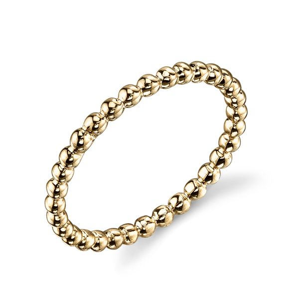 Gold Beaded Stackable Band Simones Jewelry, LLC Shrewsbury, NJ