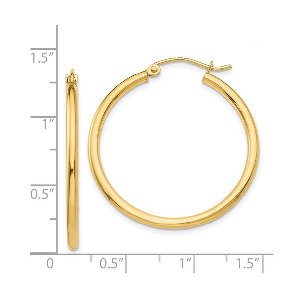 Gold Hoop Earrings Image 2 Simones Jewelry, LLC Shrewsbury, NJ