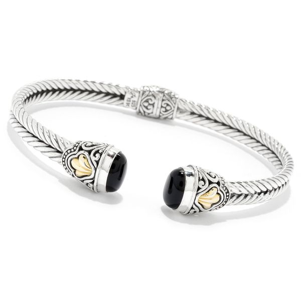 Sterling Silver & Onyx Bangle Simones Jewelry, LLC Shrewsbury, NJ