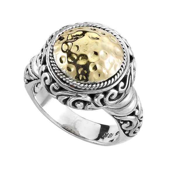 Sterling Silver & 18k Ring Simones Jewelry, LLC Shrewsbury, NJ