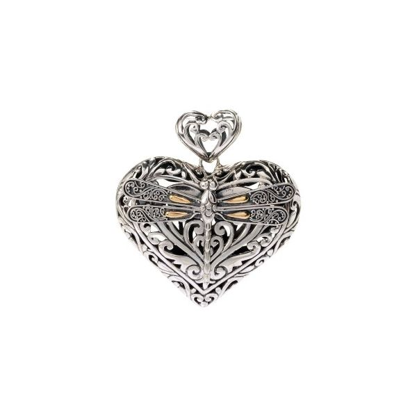 Sterling Silver & 18K Heart Simones Jewelry, LLC Shrewsbury, NJ