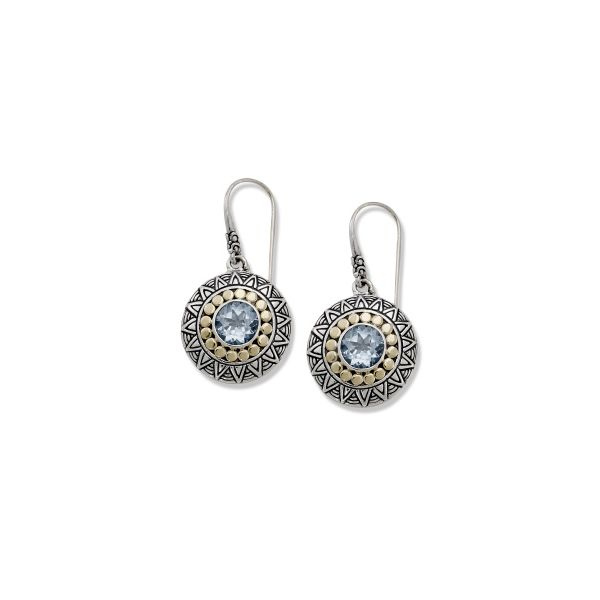 Sterling Silver & Gold Blue Topaz Earrings Simones Jewelry, LLC Shrewsbury, NJ