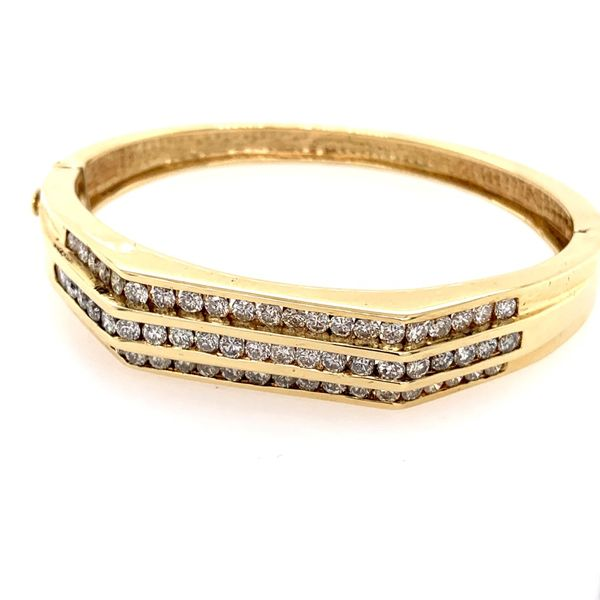 Diamond Channel Set Bangle Bracelet Image 2 Simones Jewelry, LLC Shrewsbury, NJ