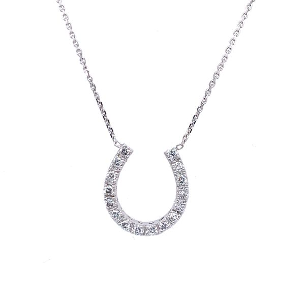 Estate Diamond Horseshoe Necklace Simones Jewelry, LLC ,