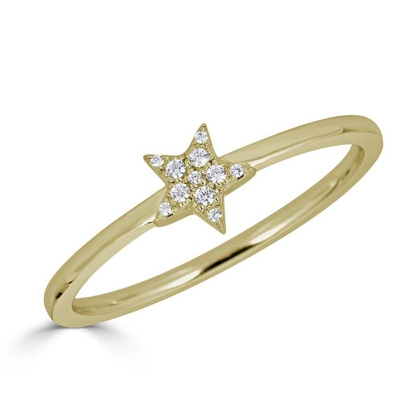 Metrica Star Full Ring 14KTY .06TCW S. Lennon & Co Jewelers New Hartford, NY
