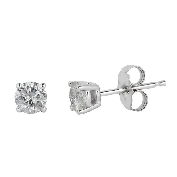S. Lennon Classics - Diamond STUDS - 4 PRNG PUSH BACK S. Lennon & Co Jewelers New Hartford, NY