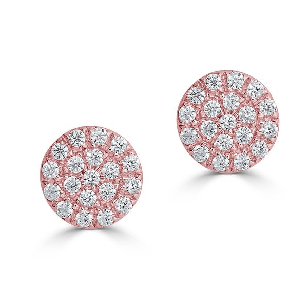 DIAMOND CIRCLE STUDS S. Lennon & Co Jewelers New Hartford, NY