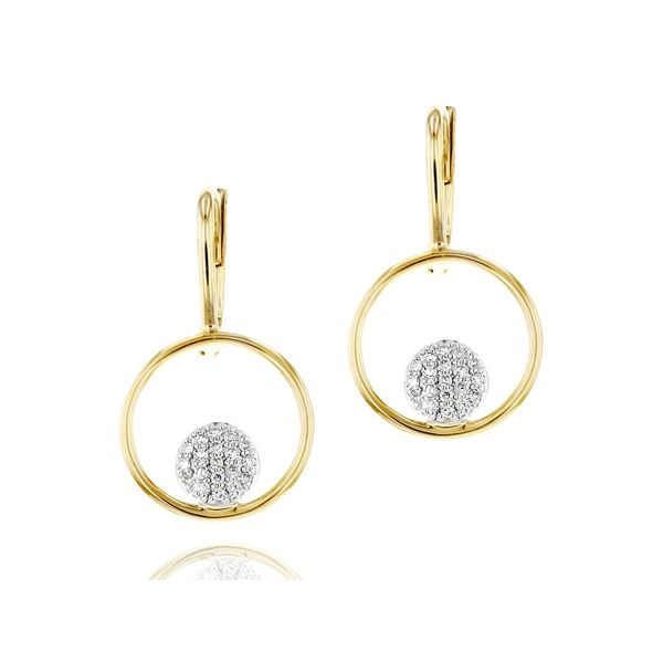 Phillips House - Infinity Loop Leverback Earrings - 14k gold and diamonds (0.21 tcw) S. Lennon & Co Jewelers New Hartford, NY