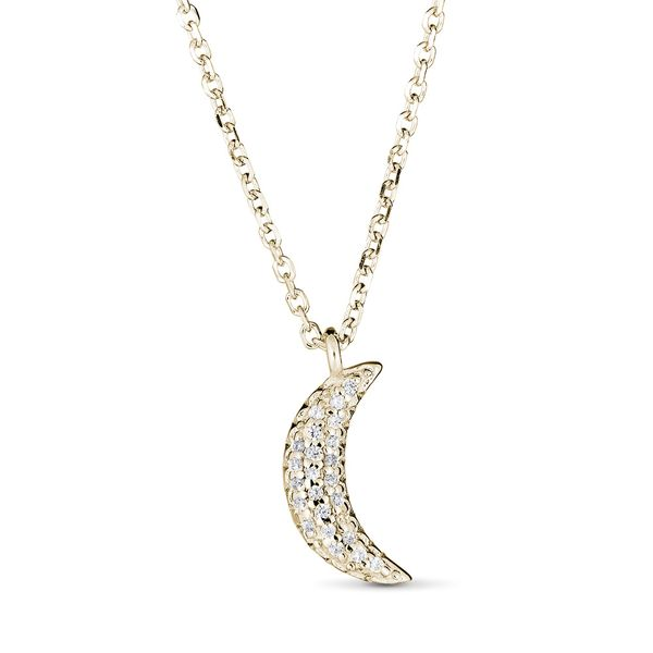 DIAMOND MOON NECKLACE S. Lennon & Co Jewelers New Hartford, NY