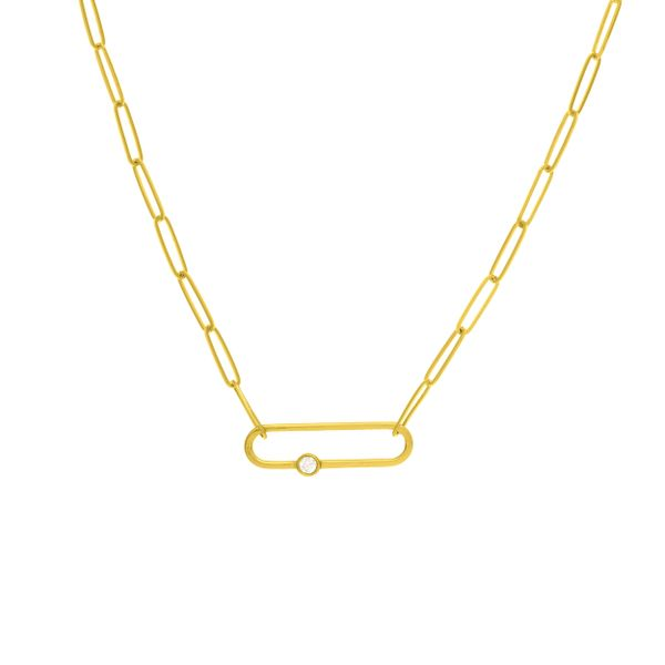 FANCY PAPER CLIP NECKLACE S. Lennon & Co Jewelers New Hartford, NY