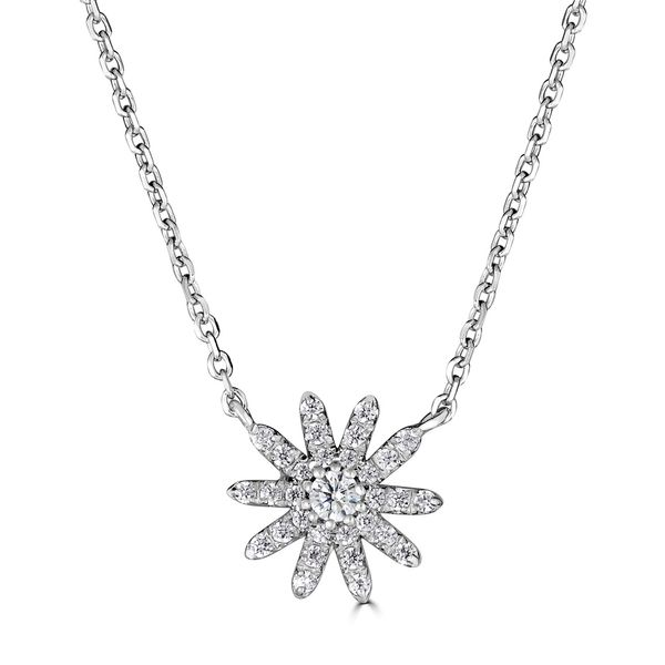 DIAMOND FLOWER NECKLACE S. Lennon & Co Jewelers New Hartford, NY