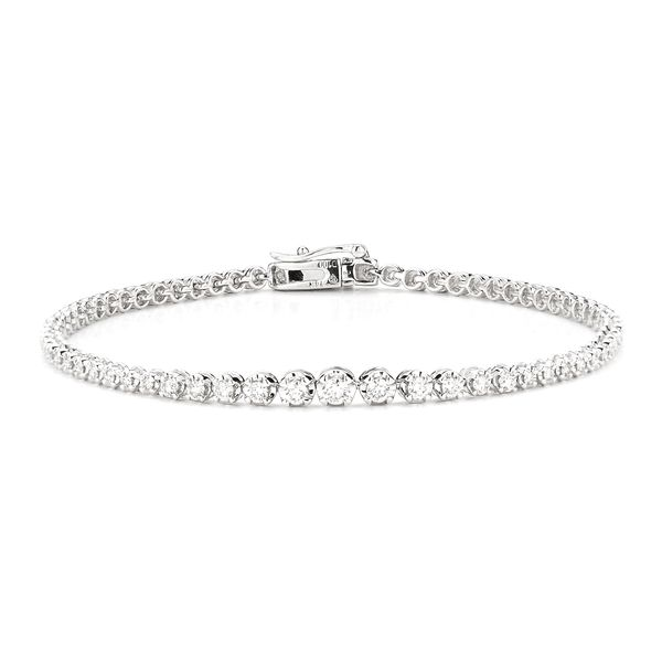 S. Lennon Classics - White 14 Karat Tennis Diamond Bracelets With 1.00Tw Rose Cut Diamonds S. Lennon & Co Jewelers New Hartford, NY
