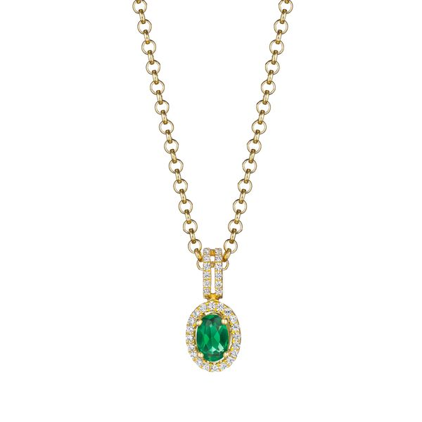 Fana - Diamond and Emerald Pendant S. Lennon & Co Jewelers New Hartford, NY