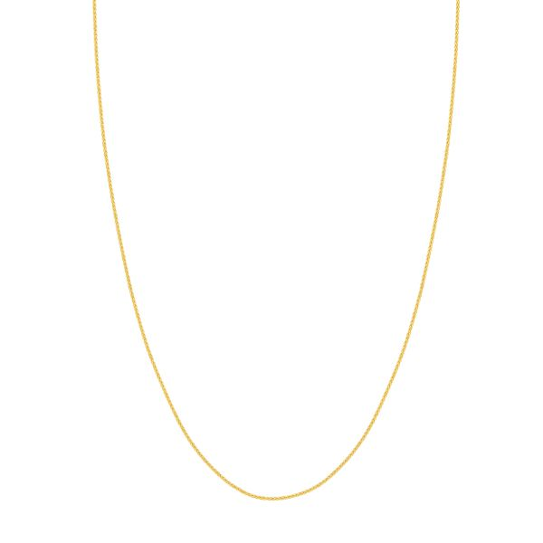 ADJ 1.02MM WHEAT CHAIN 025 14KT YGOLD 22