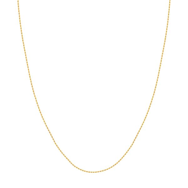 CHINESE ROPE CHAIN 025 1.05 MM LOBSTER 14KT YGOLD 18