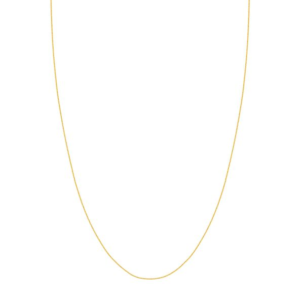 ROUND WHEAT CHAIN 020 0.83 MM LOBSTER  14KT YGOLD 16