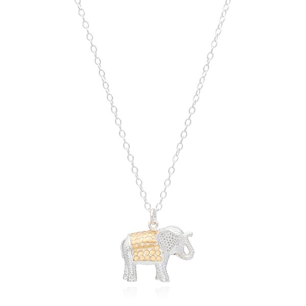 Anna Beck Elephant Charm Necklace - Gold &Silver S. Lennon & Co Jewelers New Hartford, NY