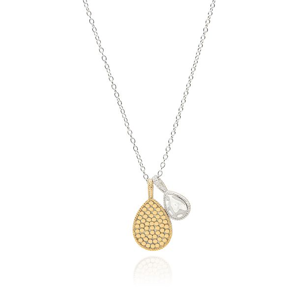 Anna Beck Hammered Double Drop Necklace - Reversible S. Lennon & Co Jewelers New Hartford, NY