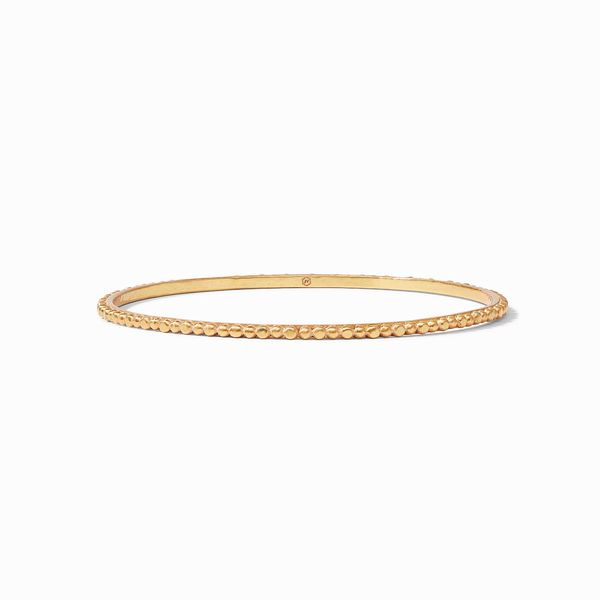 Julie Vos Colette Bead Bangle Gold Medium S. Lennon & Co Jewelers New Hartford, NY