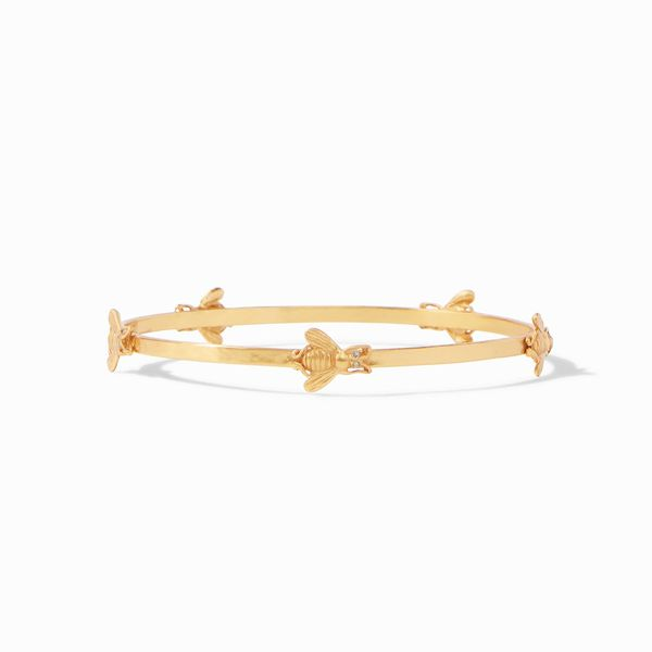 Julie Vos Bee Bangle Gold Cubic Zirconia - Medium S. Lennon & Co Jewelers New Hartford, NY
