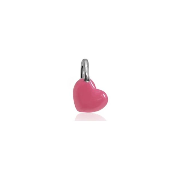 Alex Woo - Mini Addition Sterling Silver Hot Pink Enamel Heart S. Lennon & Co Jewelers New Hartford, NY