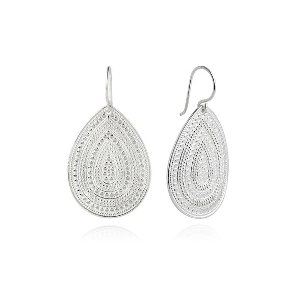 Anna Beck Classic Large Teardrop Earrings - Silver. S. Lennon & Co Jewelers New Hartford, NY