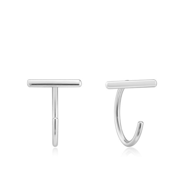 Ania Haie T-Bar Twist Earrings  -Silver S. Lennon & Co Jewelers New Hartford, NY