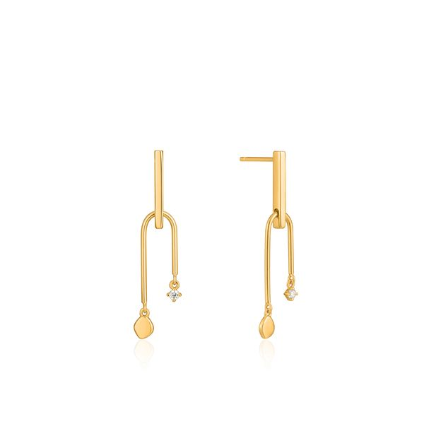 Ania Haie Gold Double Drop Stud Earrings S. Lennon & Co Jewelers New Hartford, NY