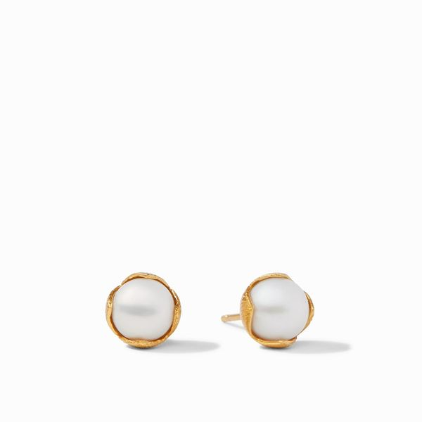 Julie Vos Penelope Stud Gold Pearl - Small S. Lennon & Co Jewelers New Hartford, NY