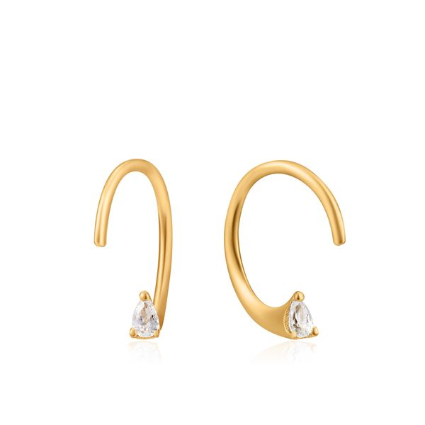 Ania Haie Gold Twist Sparkle Earrings S. Lennon & Co Jewelers New Hartford, NY