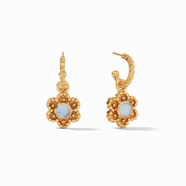Julie Vos Colette Hoop & Charm Earring Gold Iridescent S. Lennon & Co Jewelers New Hartford, NY