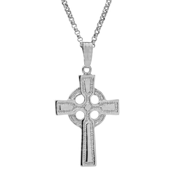 Sterling Silver Celtic Cross Necklace S. Lennon & Co Jewelers New Hartford, NY