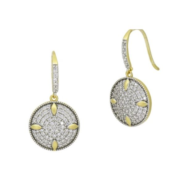 FREIDA ROTHMAN HOPE COLLECTION - PETALS AND PAVÉ DISC EARRINGS S. Lennon & Co Jewelers New Hartford, NY