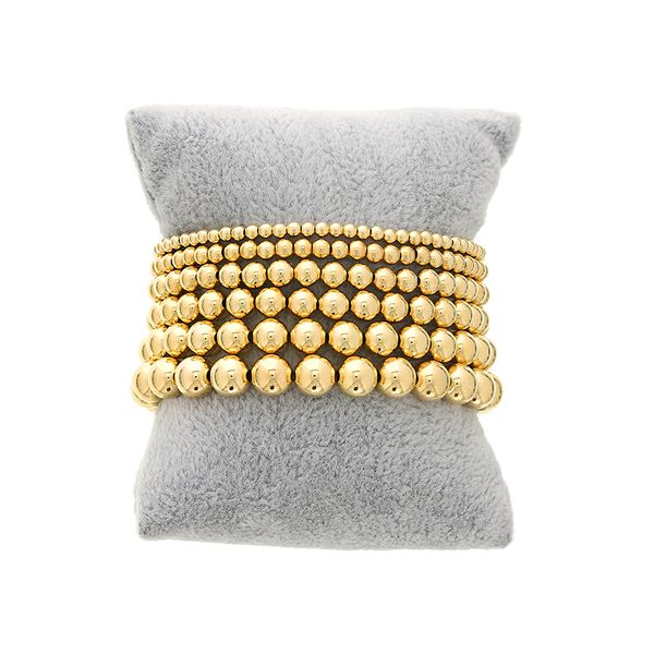 Dee Berkley Women's Beaded Bracelets - Shine Bright Collection- 8MM GOLD FILLED BEADED BRACELET S. Lennon & Co Jewelers New Hartford, NY