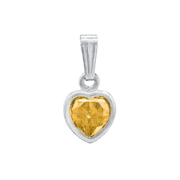 November Birthstone Sterling Silver Heart Pendant S. Lennon & Co Jewelers New Hartford, NY