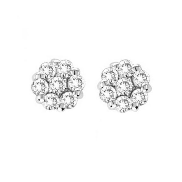 14K White Gold Diamond Earrings Smith Jewelers Franklin, VA