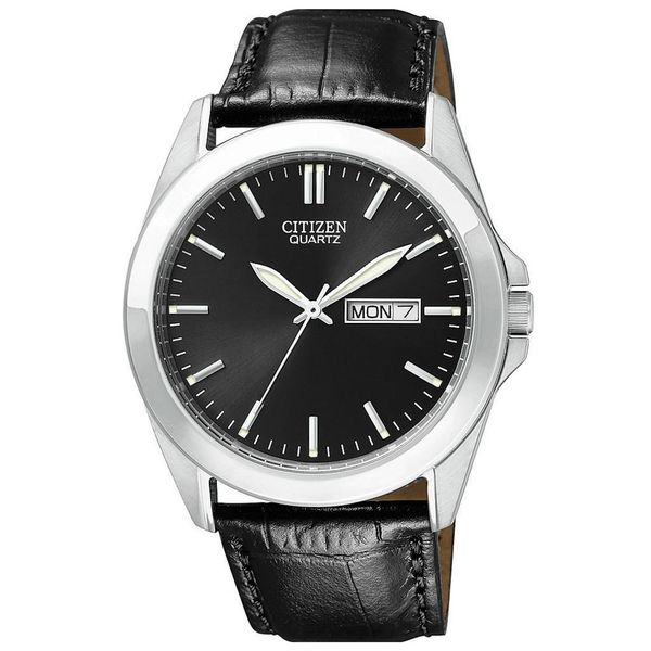 Citizen Men's Black Leather Watch Smith Jewelers Franklin, VA
