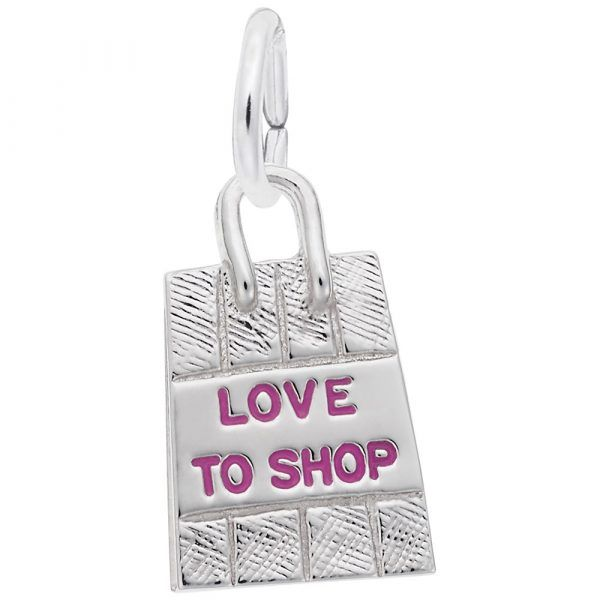 Sterling Silver Love to Shop Bag Charm Smith Jewelers Franklin, VA