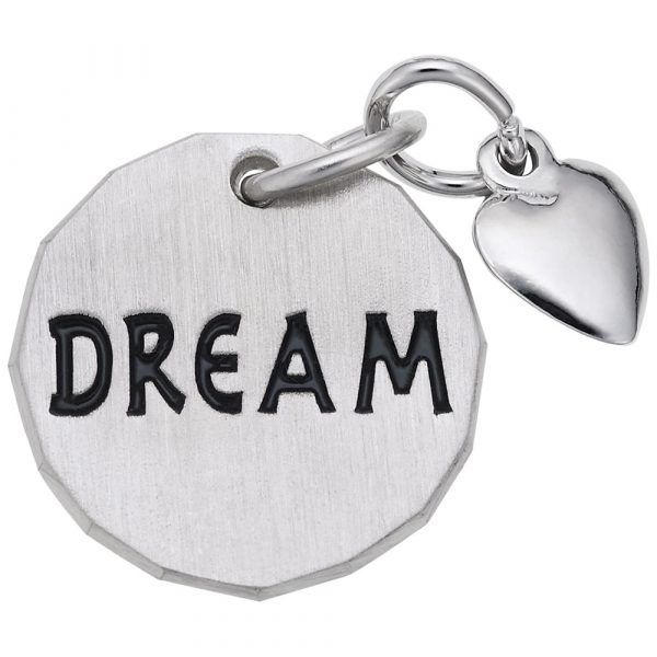 Sterling Silver Dream Tag with Heart Accent Charm Smith Jewelers Franklin, VA
