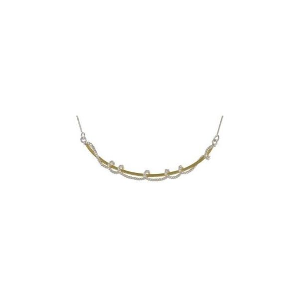 Sterling Silver and 22K Gold Vermeil Necklace Smith Jewelers Franklin, VA