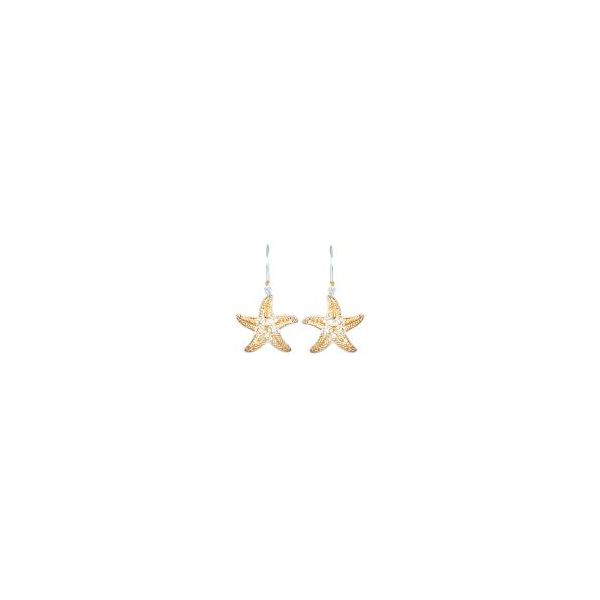 Sterling Silver and 22K Gold Vermeil Starfish Earring Smith Jewelers Franklin, VA